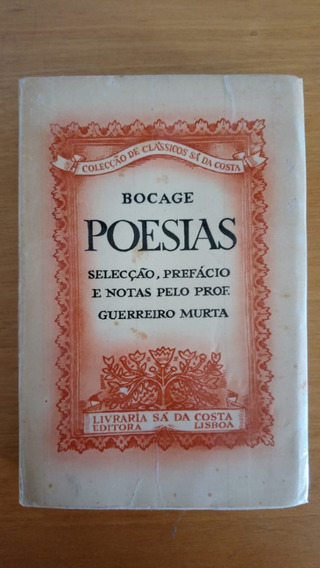 Bocage - Poesias - Livro Importado