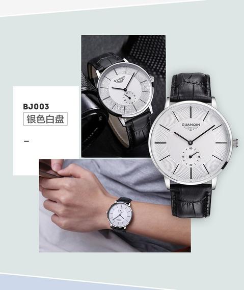 Relógio Pulso - Guanqin 10bar Quartzo - Cristal De Safira