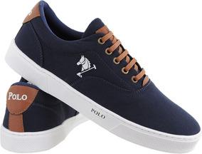 a4b549faa4 Sapatenis Feminino Polo - Sapatos Azul marinho no Mercado Livre Brasil