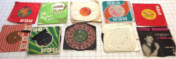 Lote De 16 Mini Discos De Vinilo De Diferentes Artistas