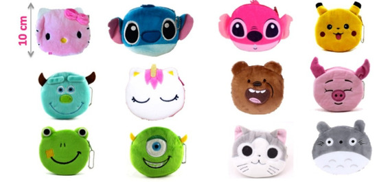 Monedero Stitch, Angel, Kitty, Totoro, Wazowsky, Sullivan