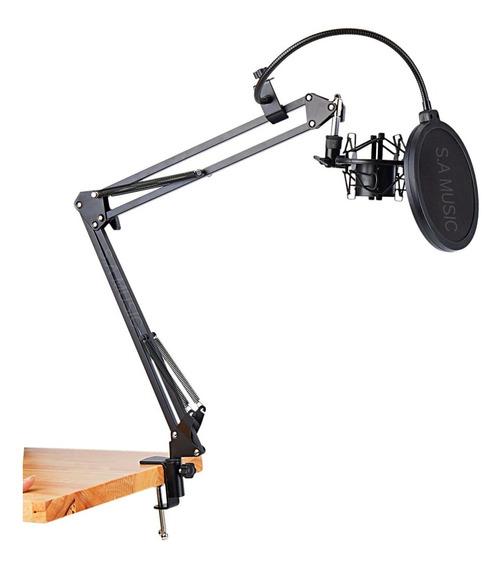 Suporte Pedestal Mesa Braço Articulado Youtuber P/ Microfone