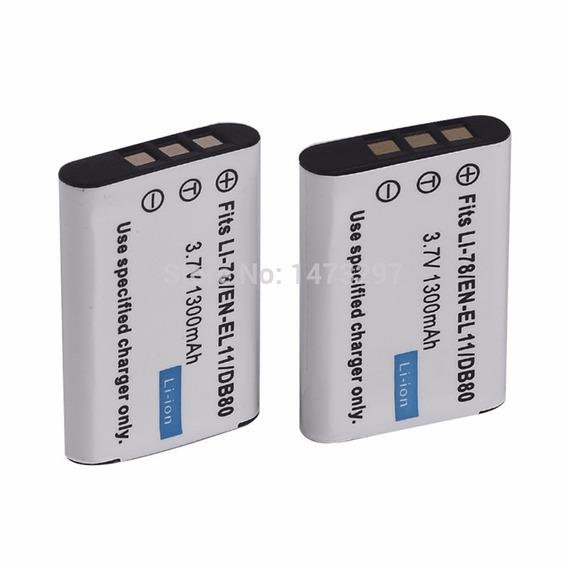 02 Baterias En-el11 Enel11 + Carregador Nikon S550 S560