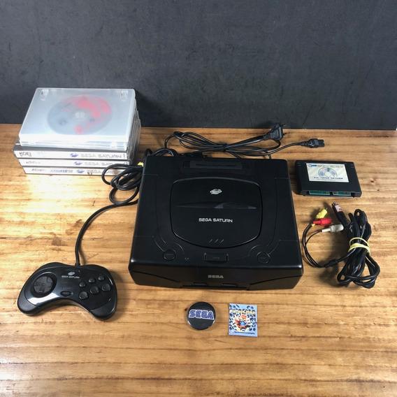 Sega Saturn Preto Original C/ Key + 5 Jogos Originais!!