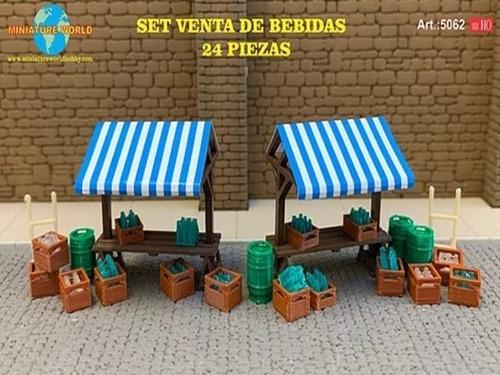 Imagen 1 de 5 de Nico Set De Venta De Bebidas Art.5062 M. World H0 (mntw 92)