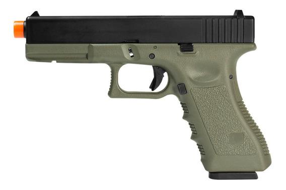 Pistola De Airsoft À Gás Gbb Green Gás R17 Od Blowback 6mm -