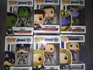 Funko Pop Avenger Endgame Con Traje Iron Man Thor Thanos