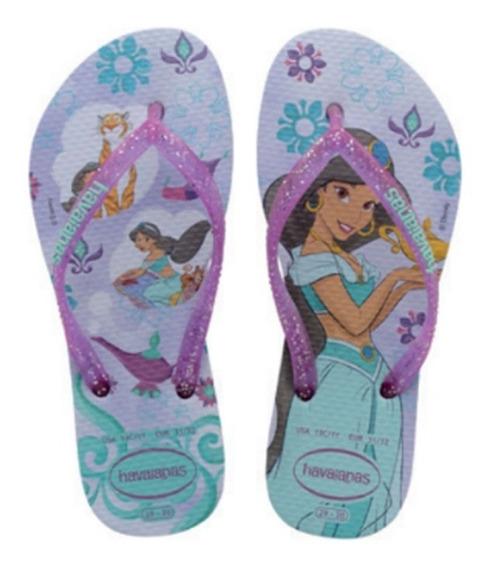 Chinelo Infantil Havaianas Slim Disney Princesas Jasmine