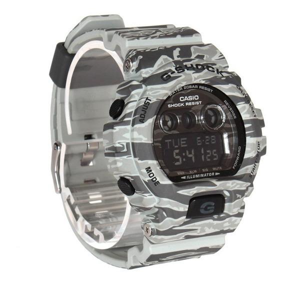 Relógio Casio G-shock Militar Camuflado Gd-x6900cm-8dr Cinza