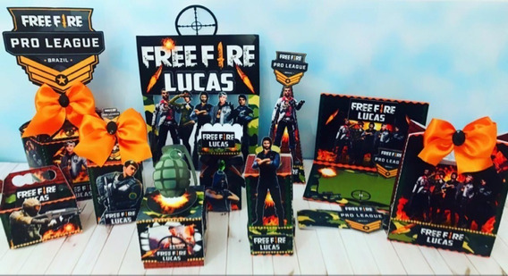 Kit Imprimible Free Fire Candy Bar Diseños Caja Corte Cameo