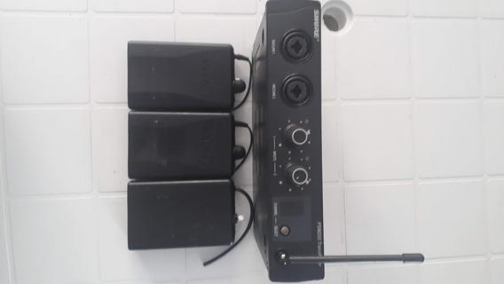 Ear Phone Shure Psm 200 Original Monitor S/ Fio Fone Retorno