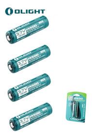 4x Bateria Olight 14500 750mah Proteção Recarregável Li-ion