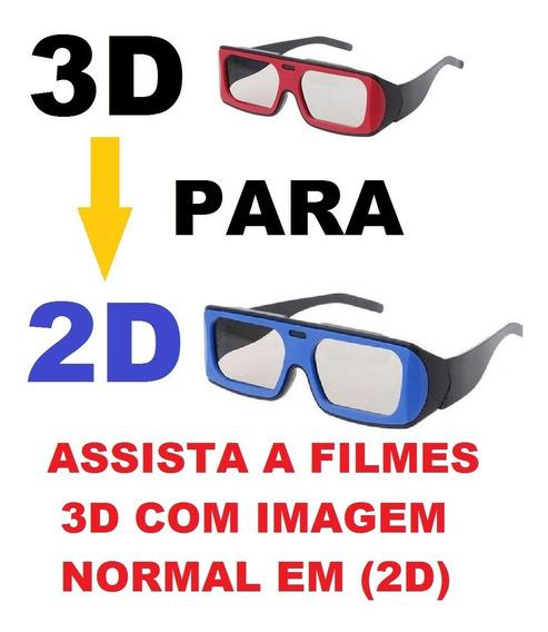 Óculos Conversor Cinema 3d Para 2d
