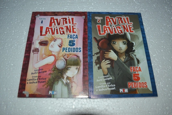 Mangá Avril Lavigne - Faça 5 Pedidos Vol.1 E 2 Novos - Pixel