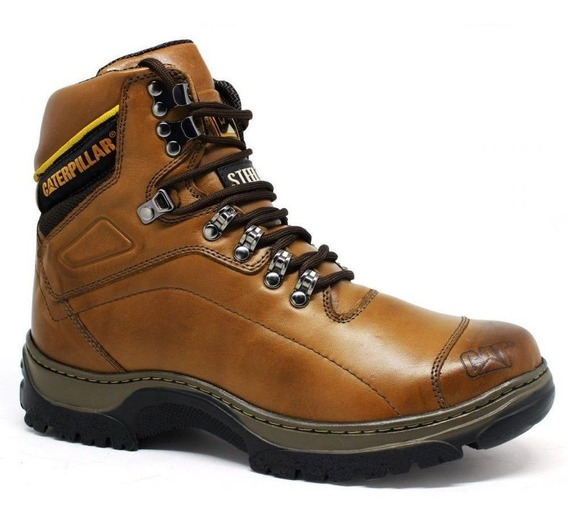 Bota Botina Caterpillar Original Cat 2061 Avelan Couro Promo