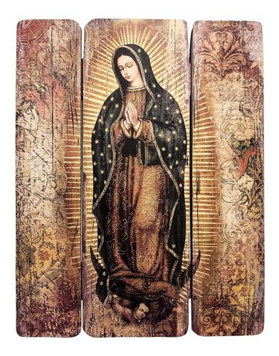 Cuadro Virgen Guadalupe Impresión Directa En Mdf 30x25cm