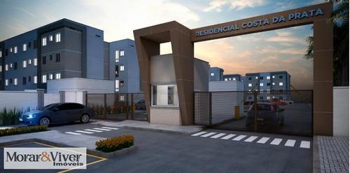 Imagem 1 de 14 de Apartamento Para Venda Em São José Dos Pinhais, Afonso Pena, 2 Dormitórios, 1 Banheiro, 1 Vaga - Sjp5990_1-1297083