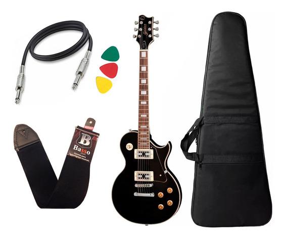 Guitarra Les Paul Golden Preto Fosco Gld151c Stbk Bag Cabo