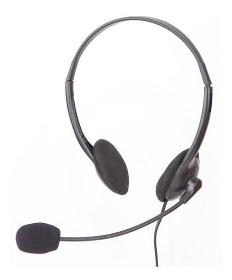 Fone De Ouvido Headset Com Microfone Goldentec Preto 28222