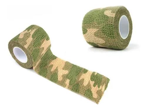 Fita Camuflagem Adesiva Bandagem Tape Airsoft Varias Cores