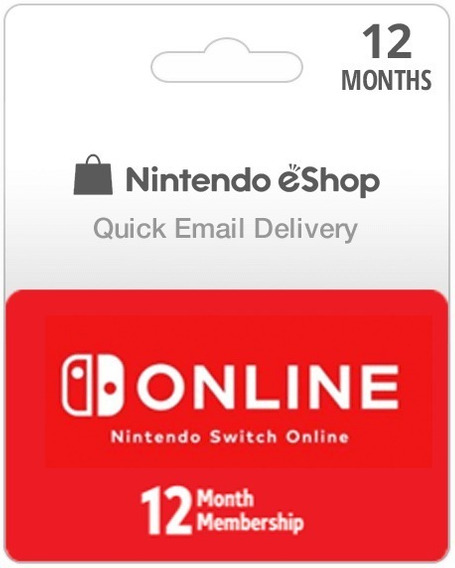 12 Meses De Assinatura Online Do Nintendo Switch