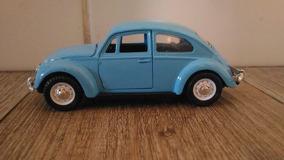 Fusca Volkswagen Azul Claro Escala 1.32 Raro