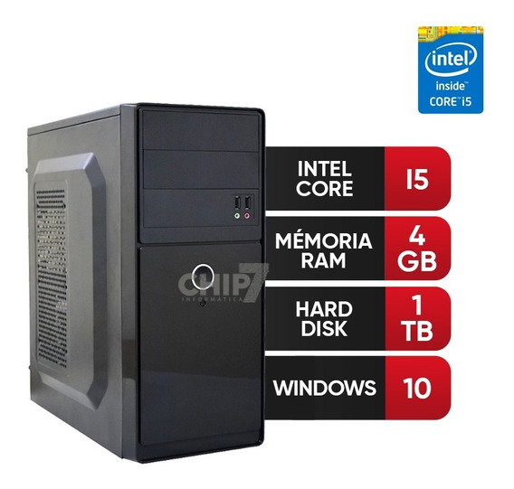 Pc Intel Core I5, 4gb Ram Ddr3,hd 1tb 12 X Se Juros