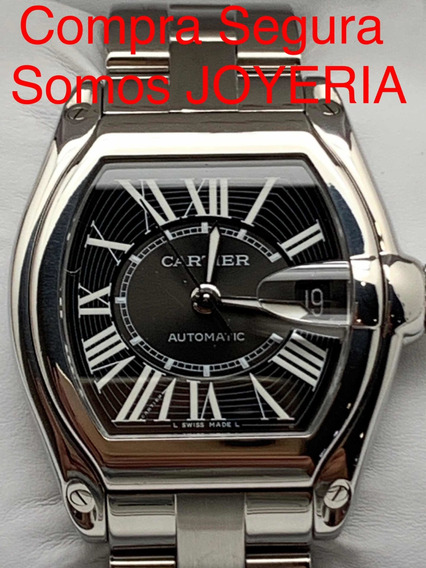 Cartier 55mil Roadster Acero Impecable Con Certificado Caja