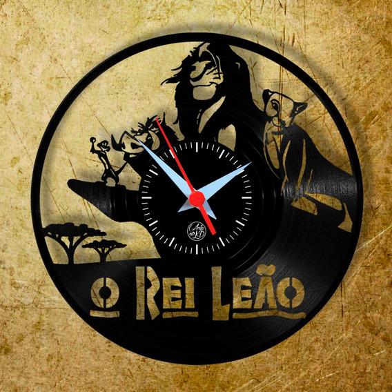 O Rei Leão Relógio Parede Vinil Disco Geek Arte No Lp