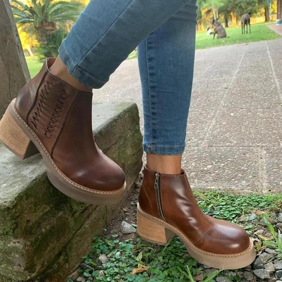 Botas Mujer Zapatos Plataforma Botinetas Dama Invierno Moda