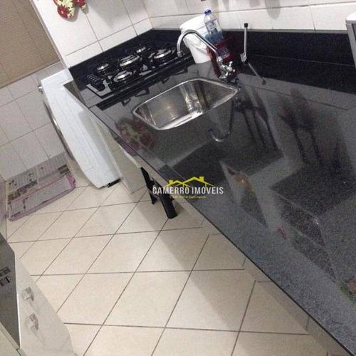 Imagem 1 de 6 de Apartamento Com 2 Dormitórios À Venda, 59 M² Por R$ 190.000,00 - Parque Residencial Jaguari - Americana/sp - Ap0630