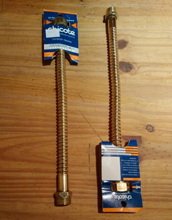 Flexible Dorado 1/2 X 30 Cm X 4 Unidades Chicote