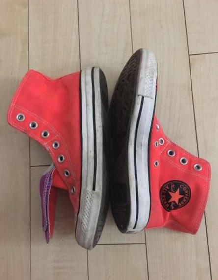 Zapatillas Converse Flour Naranjas Y Violetas!