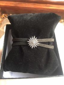 Bracelete Estrela Em Couro
