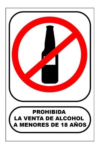 Letrero Prohibida La Venta De Alcohol A Menores Mercado Libre
