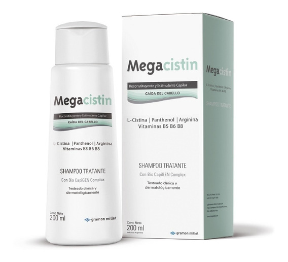 Megacistin Shampoo Anticaida Fortalecedor X 200 Ml