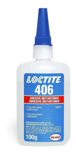 Adesivo Instantâneo Loctite 406 Cianoacrilato 100g