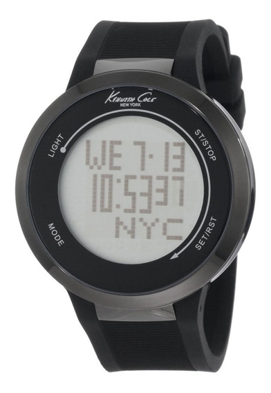 Reloj Kenneth Cole Hombre Digital Pulso Caucho.