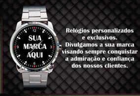 Relógio De Pulso Personalizado Logo Sua Marca Sua Empresa 01