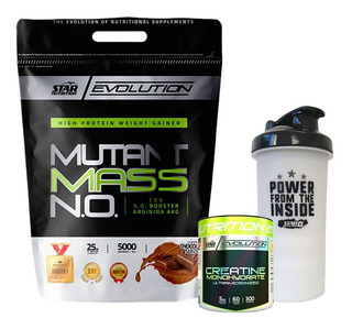 Mutant Mass 5 Kg + Creatina X 300gr + Shaker-star Nutrition