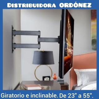 Soporte Tv Plana Curve De 32 A 65 Giratorio Brazo Extensible