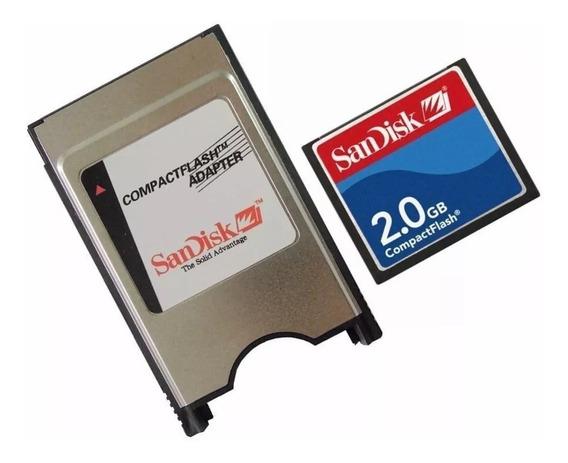 Adaptador Pcmcia Compact Flash Cf 2gb Sandisk Fanuc Cnc