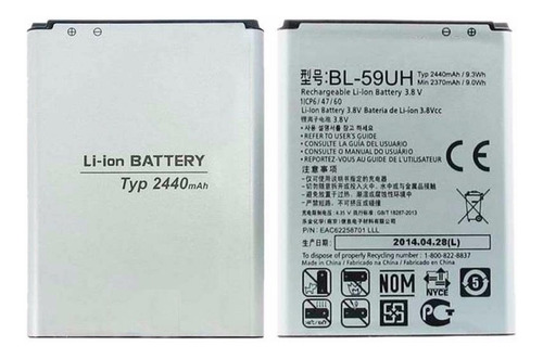 d295783a902 Bateria Alternativa Lg G2 Mini Calidad Premium Garantia - $ 504,00 en  Mercado Libre