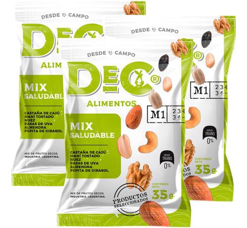 Mix Saludable De Frutos Secos Dec Alimentos - X3 Paquetes
