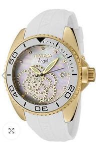 Relógio Feminino Invicta Angel 0488 Ban. Ouro 18k C/cristais
