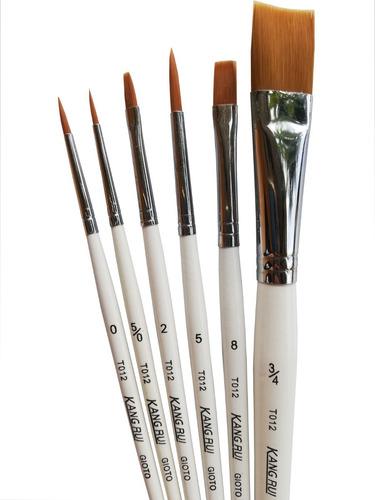 Pinceles Set X 6 Para Oleo Y Acrilico Semiprofesional