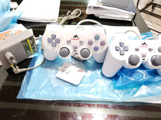 Kit 2 Controles Ps1 + 1 Memorycard + Fonte Psone Playstation