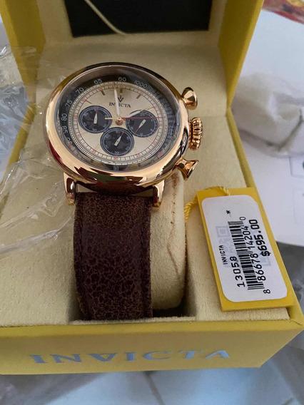 Relógio Original Invicta Pulseira Couro Lindíssimo