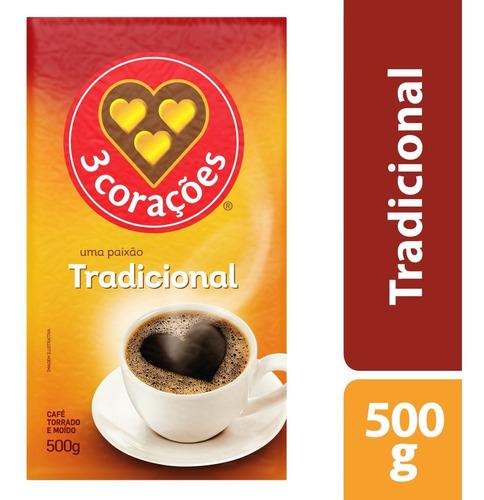 Café Torrado E Moído A Vácuo Tradicional 3 Corações - 500g