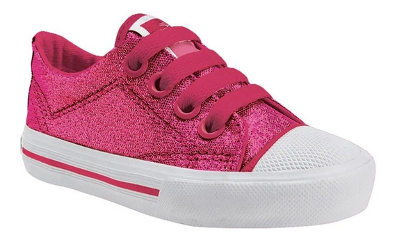 Zapatillas Topper Pasitos Glitter Fucsia De Bebes